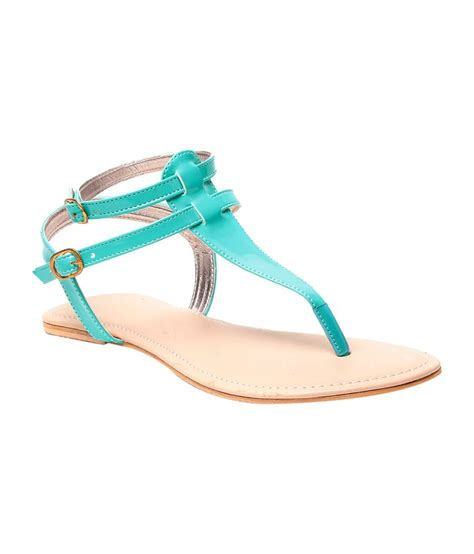 turquoise flat sandals nell turquoise faux leather flat sandals price in india