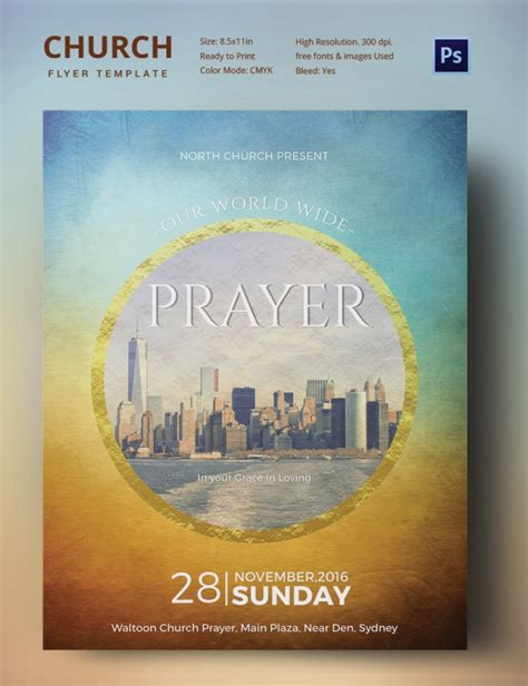 Awesome Free Church Revival Flyer Template #2: Church_Flyer_02.jpg