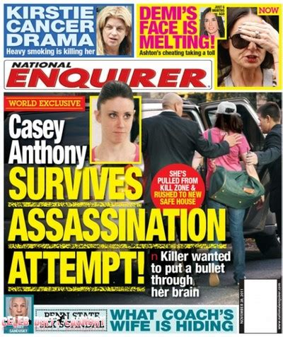This Weeks National Enquirer Attempts by Caylee Anthony Justice Denied Casey Free 11 10 19