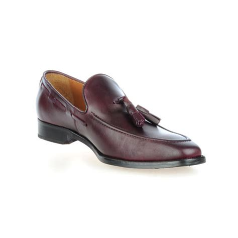 league loafers leather tasseled loafer burgundy 39 rooster