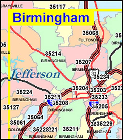 zip code map jefferson county al alabama zip code map including county maps
