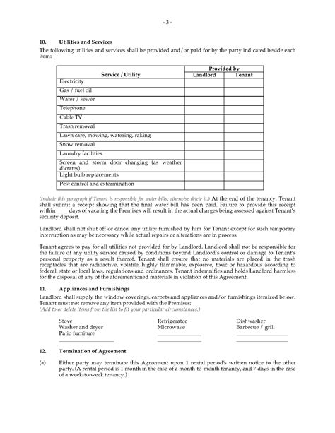 Weekly Rental Agreement Template by Michigan Rental Agreement Monthly Or Weekly