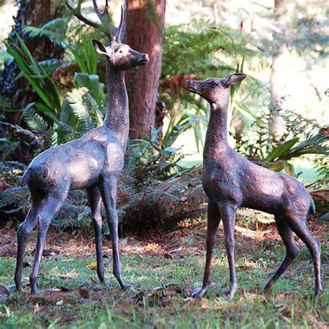 metal garden animals large deer stag bronze statues garden ornaments
