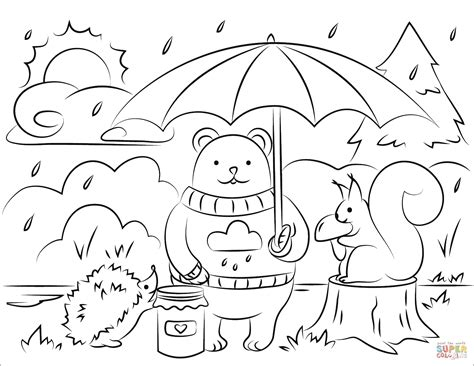 fall coloring pages for fall animals coloring page free printable coloring pages
