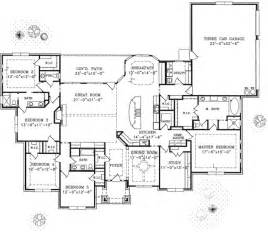 Floor Plans For One Story Homes by 1 Story Home Floor Plan Custom Home Building Remodeling