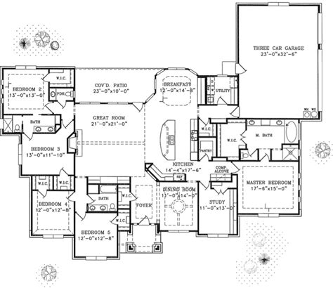 Single Story Floor Plan one story hill country home plans house design ideas