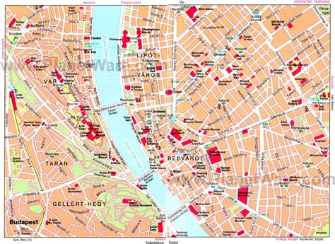printable map budapest 14 top rated tourist attractions in budapest planetware