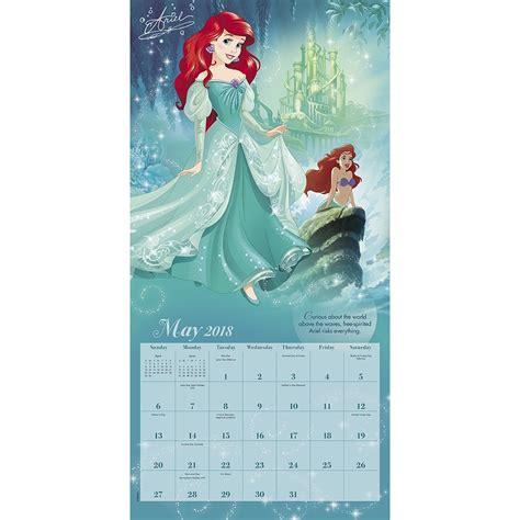 2018 disney princess wall calendar day disney princess wall calendar 038576554788 calendars
