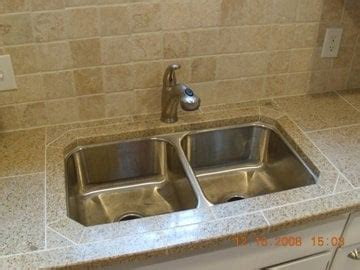 Undermount Sink Tile Countertop by Installing An Undercounter Sink In A Granite Tile