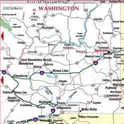 highway map of eastern washington state aaccessmaps