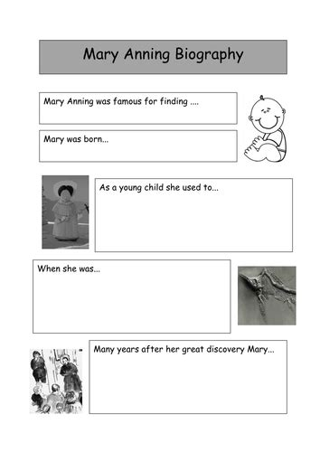 biography ks2 mary anning research support and biography by dm bunting