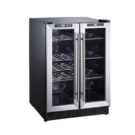 magic chef dual zone 23 4 in 42 bottle 114 can wine and