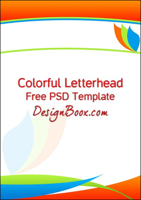 letterhead templates for photoshop free letterhead template psd