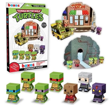 Tmnt Papercraft - mutant turtles papercraft activity playset