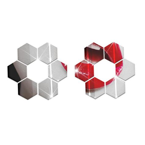 Hexagon Bevelled Mirror 10pcs 1 compare prices on black mirrored furniture