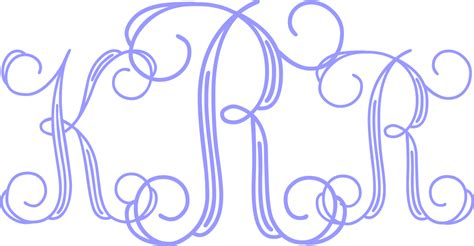 monogram template custom monogram initials decal letters car window
