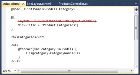 how to remove layout from view in mvc scottgu s blog asp net mvc 3 layouts with razor