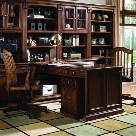 Hooker Furniture Brookhaven Peninsula Desk In Cherry Peninsula Desk Office Furniture
