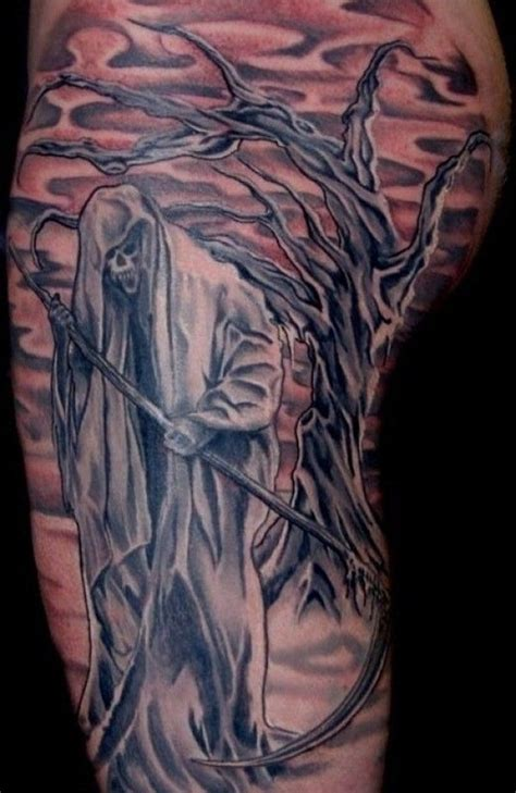 Full Body Grim Reaper Tattoo | 50 grim reaper tattoo designs nenuno creative