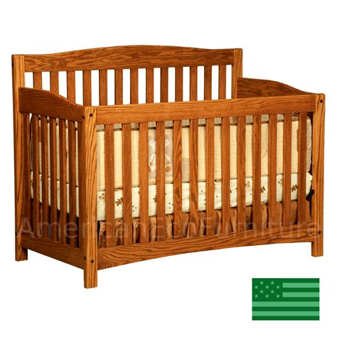 Monterey Convertible Baby Crib Made In Usa Solid Wood Wood Baby Cribs