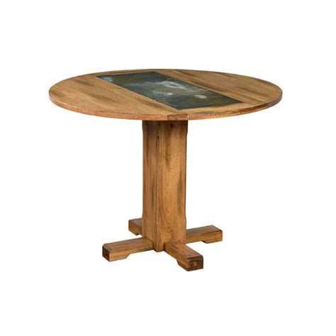 Rustic Extendable Dining Table Designs Sedona 40 Quot Extendable Slate Dining Table In Rustic Oak Ebay