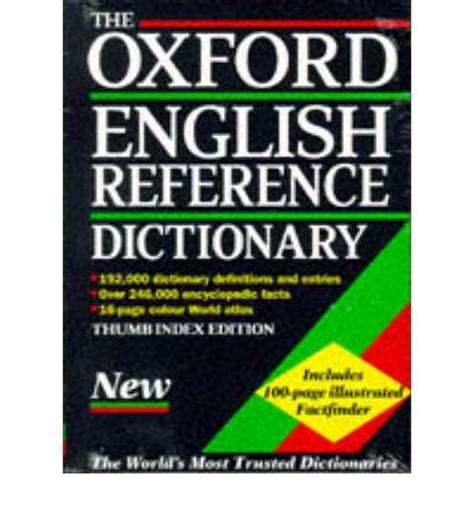 reference book dictionary the oxford reference dictionary oup 9780198600503