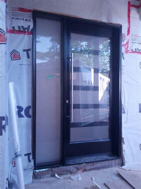 Exterior Doors Oakville Fiberglass Doors Front Single Sized Modern Contemporary Door System Installed In Custom