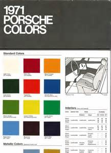 Porsche 911 Colors By Year Color Chart 1971 Usa Origineel Publiciteitsmateriaal 2