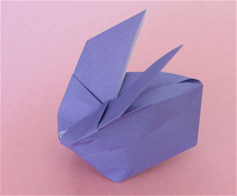 Origami Up Bunny - how to fold an origami bunny