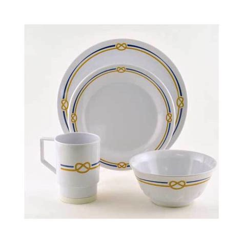 boat dinnerware set galleyware rope 16 piece dinnerware set west marine