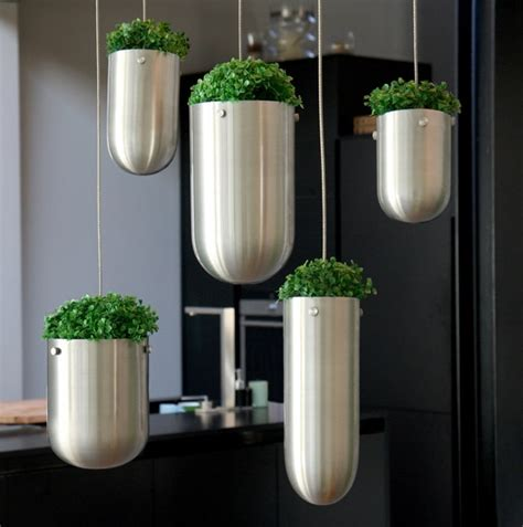 modern hanging planters modern systems to help your herb garden thrive in small spaces