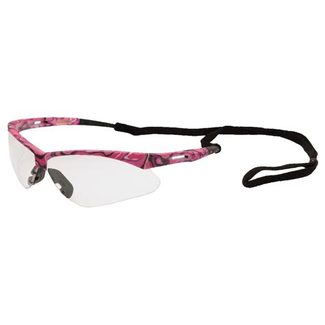 erb 15341 octane safety glasses pink camo frame clear