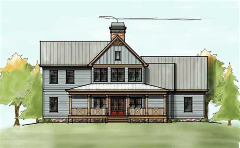 2 farmhouse plans 2 house plan with covered front porch farmhouse