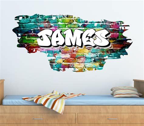 graffiti wall sticker personalised graffiti brick name wall sticker decal graphic tr45 ebay