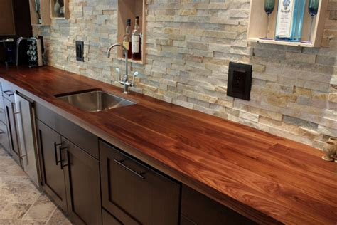 walnut wood counter for kitchen island in florida walnut a favorite choice for kitchen countertops j aaron