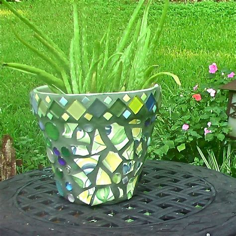Garden Plant Pots My Mosaic Pot Mickies Blooming Garden Home