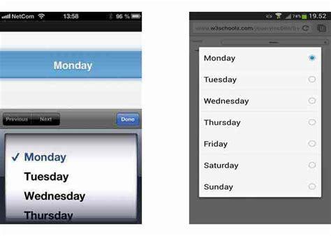 jquery mobile menu jquery mobile form select