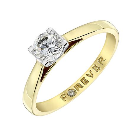 the forever 18ct gold half carat ring