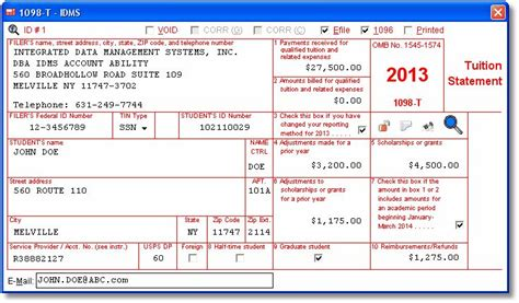 account abilitys 1098 t user interface tuition statement