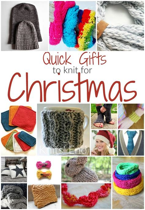 16 quick and easy knitting projects for homemade christmas