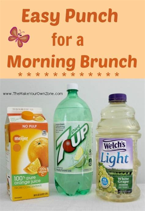easy punch recipe for a morning brunch shower brunch