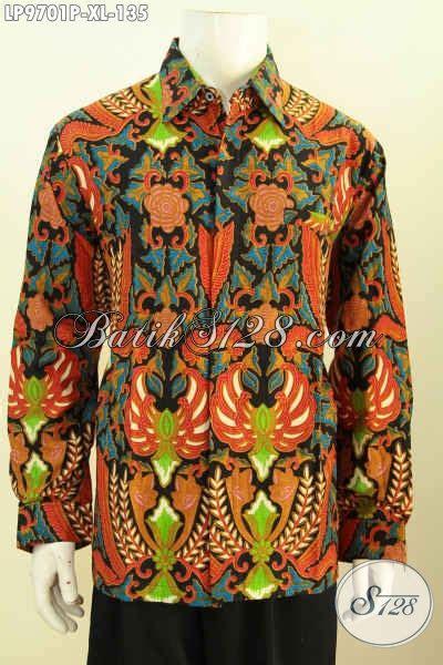 Kemeja Batik Pria Terbaru Lengan Panjang Mewah Elegan batik kemeja lengan panjang pria dewasa busana batik
