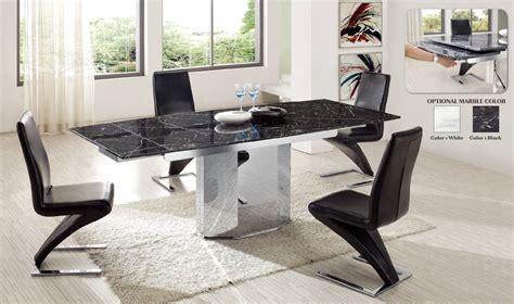 table de salle 224 manger en marbre avec allonge siska