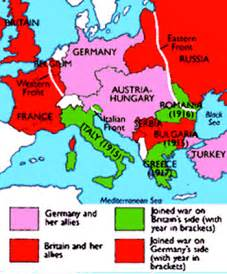 Post World War 1 Map by Europe Map During World War 1