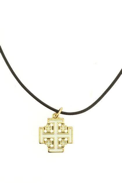 Kalung Gantung Mutiara Batu kalung salib jerusalem insert emas avila shop
