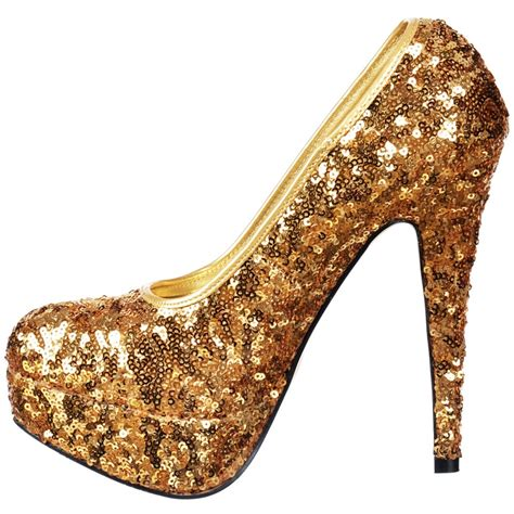 gold sequin shoes onlineshoe sparkly gold sequin high heel platform stiletto