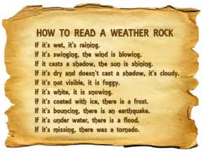 Weather rock instructions weather rock ranch
