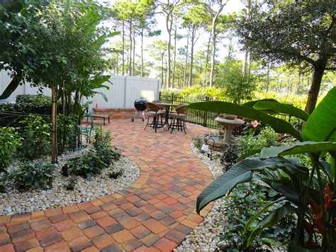 Landscape Patio Designs Florida Landscape Design Ideas Courtyard Features Construction Landscape