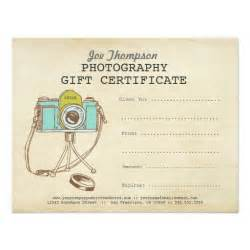 Gift Certificate Template For Photographers by Photographer Photography Gift Certificate Template 4 25x5
