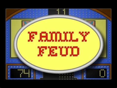 Family Feud Powerpoint Template How To Save Money And Do It Yourself Family Feud Editable
